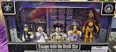 """Disney Parks Star Wars Weekends 2014 """"Escape from the Death Star"""" 5 Fig Set RARE"""