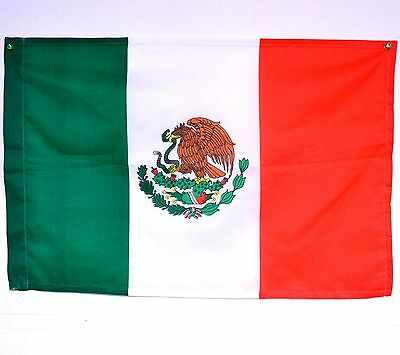 "MEXICAN FLAG 27"" X 17"" (pole support)"