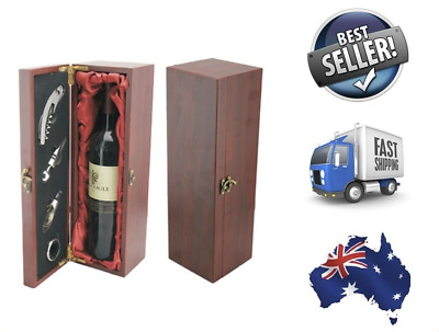 NEW - Premium Deluxe Quality Rosewood Hard Wood Single Wine Gift Box