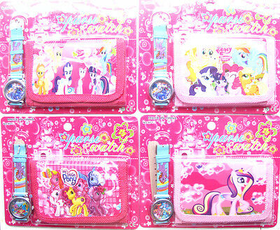 New 12 x My Little Pony  Quartz Watches and Wallet Sets Children Party Favors