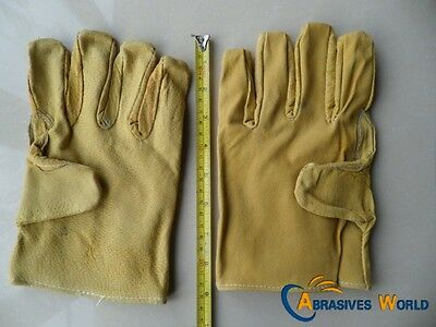 20 Pairs of Short Leather gloves, Garden, Labour, Work, Large Size, Bargin sale
