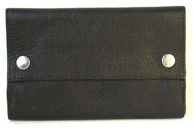 Quality Full Grain Cow Hide Leather Tobacco Pouch. Colour:Black. Style No: 11048
