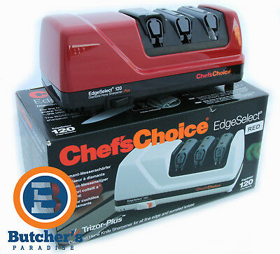 Chef's Choice Pro 120 Electric Knife Sharpener Red *free  Postage* Rrp $385
