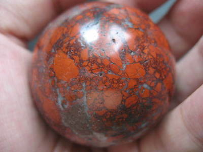 Flash Red Jasper Crystal Gemstone Ball Sphere Carving