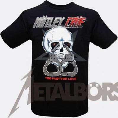"""Mötley Crüe """"Too Fast For Love"""" T-Shirt 105581 #"""