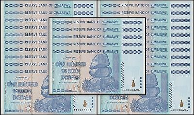 Zimbabwe 100 Trillion X 25 Pieces (PCS), AA/2008,P-91,UNC,50&100 Trillion Series