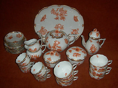 Herend Queen Victoria tea&coffee set for 6.    31 pcs.   RARE !!