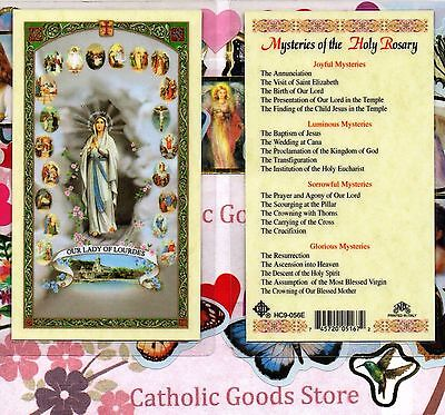 20 Mysteries of the Rosary - Laminated Holy Card