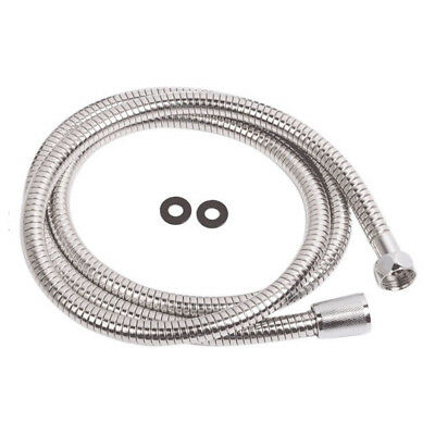 """Shower Hose Standard 1/2"""" Bore Chrome Stainless Steel Flexible Replacement 1.5m"""