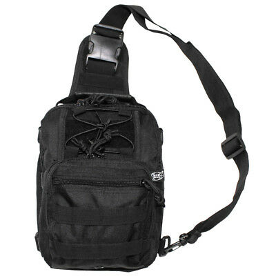 Tactical Security Shoulder Bag Molle System Airsoft Travel Hiking Camping Black
