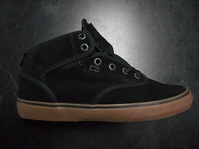 Brand NEW Mens Globe Motley Mid Skateboard Shoes in Black/Tobacco Gum