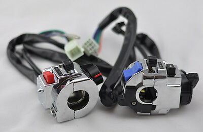 """Universal 12v DC  7/8"""" Motorcycle handlebar control function light switch"""