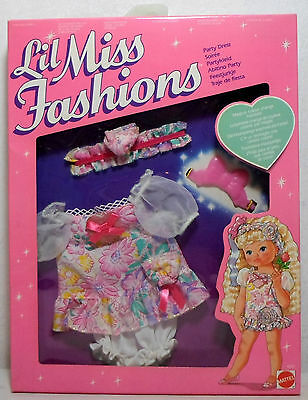MATTEL 1989 PETIT WEE LIL MISS # 4881 PARTY DRESS FASHIONS FOR DOLL VHTF RARE