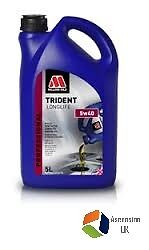 Millers Trident Longlife 5W40 Engine Oil Fully Synthetic 5 L Litre - 6124Go