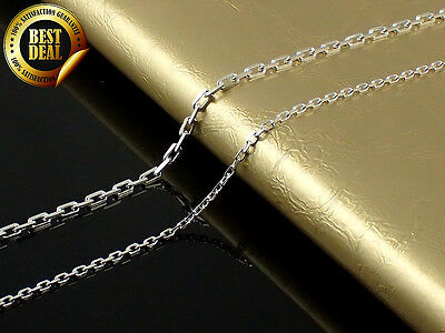 100% - 925 Sterling Silver - Rolo Chain Necklace 16,18,20,22,24,26,28,30 inch