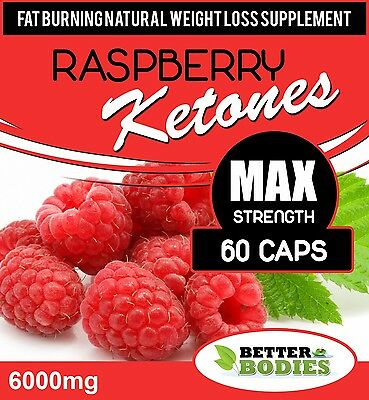 60 Raspberry Ketone 6000mg Super Extreme Strength Weight Loss Diet Supplement