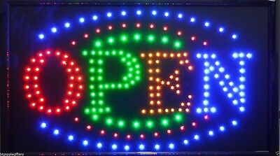 "Large BRIGHT Animated Business LED OPEN Sign w.  Switch 21"" X13""  #24"