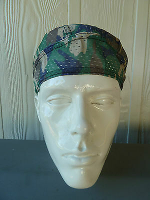 DURAG- 100% polyester CAMO Biker Durag. Perforated so it's light and cool, NWT.