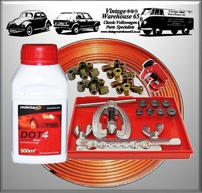 Land Rover Discovery Copper Brake Pipe Flarer Repair Kit & Brake Fluid