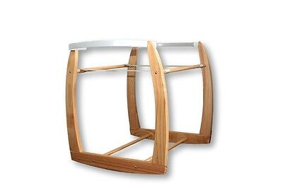 New Baby Moses Basket / Bassinet NATURAL COLOUR, ROCKING STAND ONLY