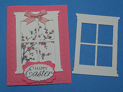 LARGE WINDOW Die Cut YOUR CHOICE OF ANY COLOR Stampin Up for cards & scrapbo