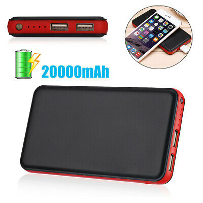 Aibocn 10000mAh Dual USB External Battery Power Bank Charger For iPhone 6/6 Plus