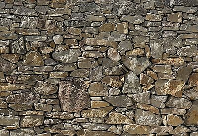 Wall Mural STONE WALL photo Wallpaper Large size wall art for Livingroom