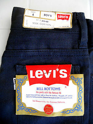 BLUE JEANS 424 Vintage Bell Bottoms 1970's - Levi's (NEW & LABELS)