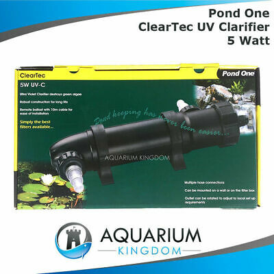 Aqua One Pond ClearTec UV Clarifier 5W Watt Steriliser Kill Algae Fish Tank UVC