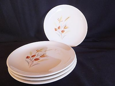 4 Vintage Ever Yours Autumn Harvest Taylor Smith & Taylor Bread & Butter Plates