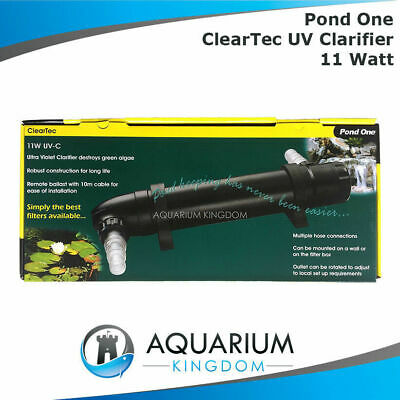 Aqua One Pond ClearTec UV Clarifier 11W Watt Steriliser & Kills Algae Fish Pond
