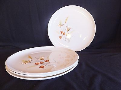 Set of 4 Vintage Ever Yours Autumn Harvest Taylor Smith & Taylor Dinner Plates