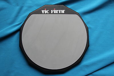Vic Firth 12 Inch Double Sided Snare Practice Pad, PAD12D