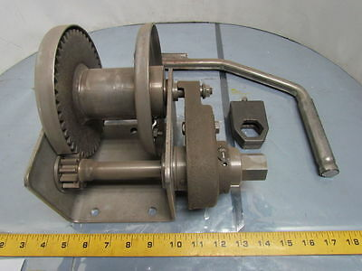 Thern M4041PBSS 1000 LB Stainless Steel Spur Gear Hand Winch NEW