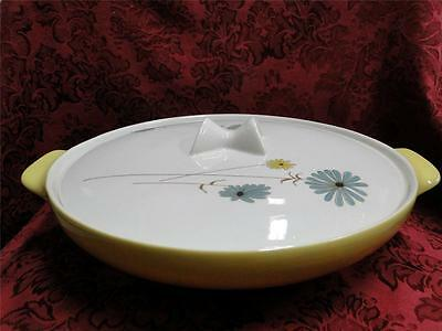 """Iroquois Lazy Daisy, Blue and Yellow Daisies: Covered Casserole 10 3/8"""""""