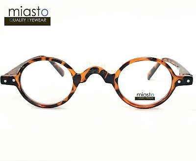 ~ Lot Of 2 ~ Miasto Extra Small Oval Round Vintage Readers Reading Glasses +2.00