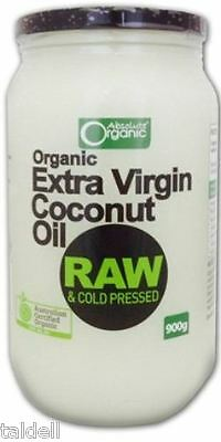 EXTRA VIRGIN ORGANIC COCONUT OIL 900g - RAW & COLD PRESSED LOW PRICE