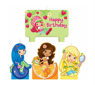 Strawberry Shortcake Birthday Party Supplies Candle Mini Moulded Pack Of 4