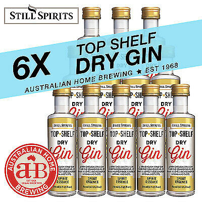6x Still Spirits Top Shelf Dry Gin English homebrew spirit essence distilling
