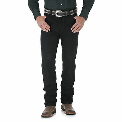Men's New Wrangler Cowboy Cut® Silver Edition Slim Fit Western Rodeo Jeans Black