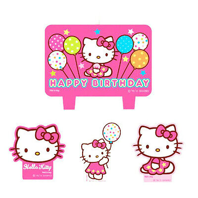 Hello Kitty Birthday Party Supplies Candle Mini Moulded Pack Of 4