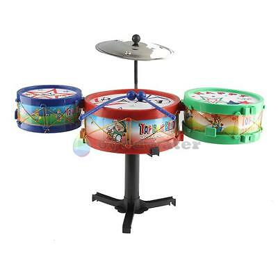 BW#A Children Musical Instruments Toy Kids Colorful Plastic Drum Drum Kit Set