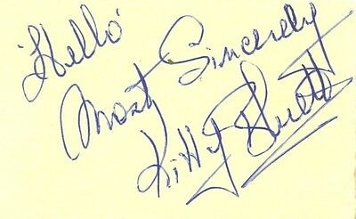 Kitty Bluett signed autograph book page 1950s/60s radio star Actress Fred Bluett