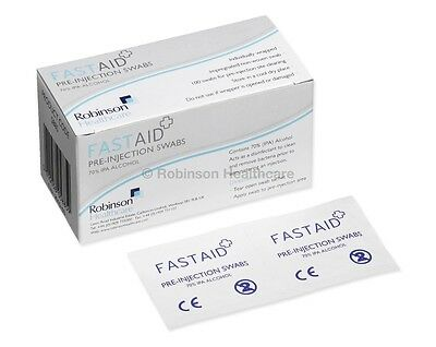 1000  FastAid  IPA  70% Isopropyl Alcohol Wipes Swabs Prep Pads TATTOO