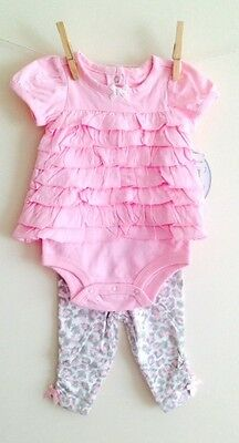 New BNWT baby girls pink set leggings next party age 3-6 6-9 9-12 12-18 18-24