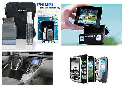 GPS Screen Cleaning Kit + Storage Case - Philips Safety Clean Mobile Phone Radio