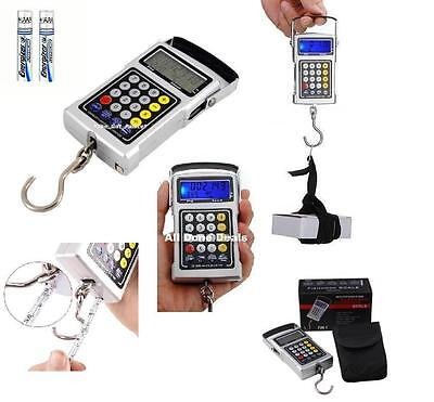 Digital Hook Scale 7in1 Hanging Weigh Hook Tape Fish Luggage Workshop to 50kg