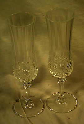 Set of 11 Crystal Champagne Glasses