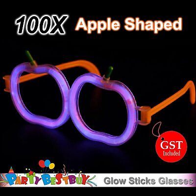 100X Multi Color glow sticks Apple shaped glasses Light Glow in the dark Party