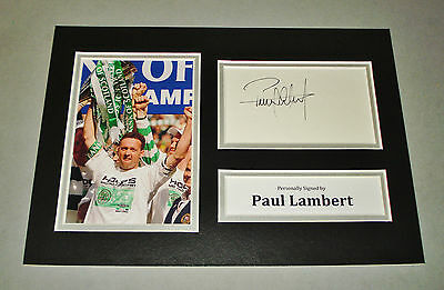 Paul Lambert Signed A4 Photo Display Glasgow Celtic Autograph Memorabilia + COA